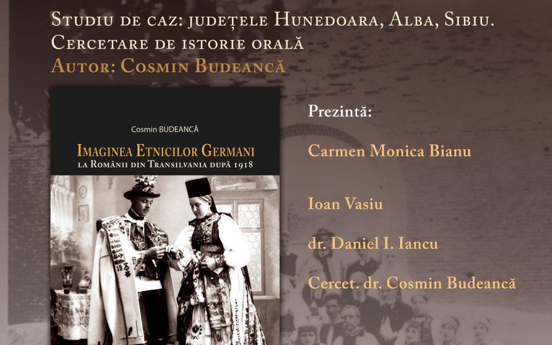 Orăștie: Imaginea Etnicilor Germani la Românii din Transilvania după 1918. Studiu de caz: județele Hunedoara, Alba, Sibiu. Cercetare de istorie orală Autor: Cosmin Budeancă